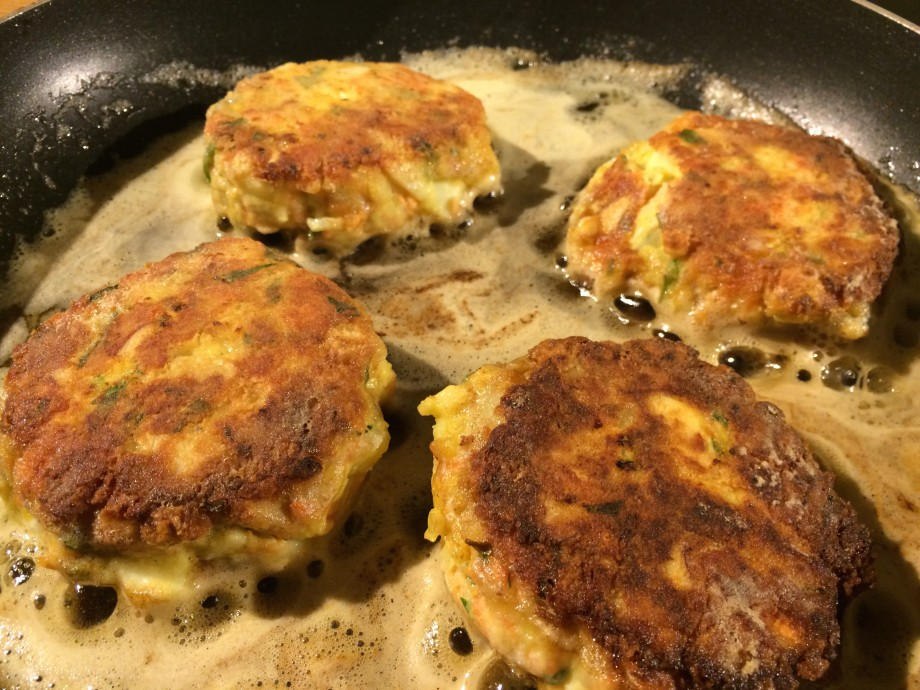 Frying the Fish Cakes