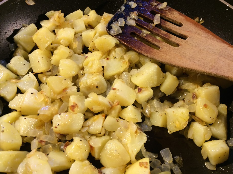 how to make fried potatoes and onions