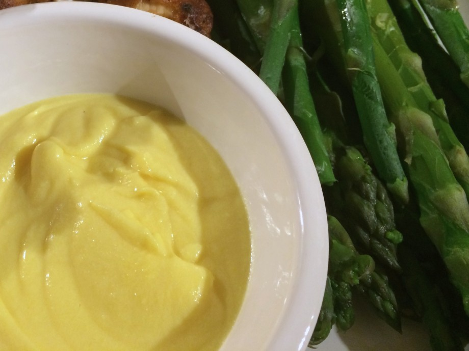 Asparagus with Cooked Salad Cream